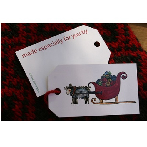 SHEEP SLEIGH Gift Tags