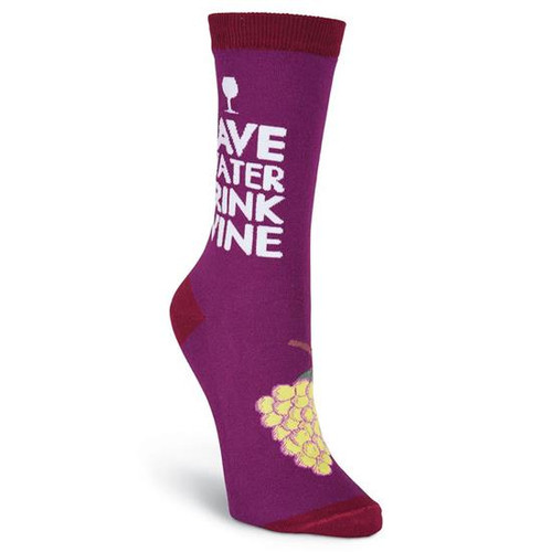 K.Bell Women's Drink Wine  Crew  Socks
