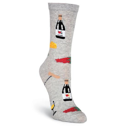 K.Bell Women's  Wine & Cheese Crew  Socks