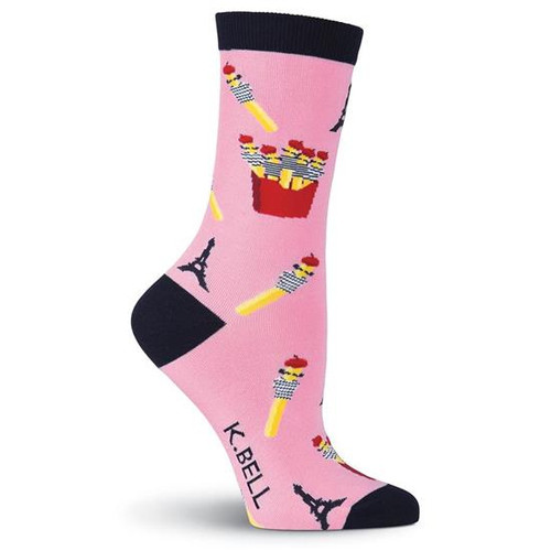 K.Bell Women's French Fries  Crew  Socks
