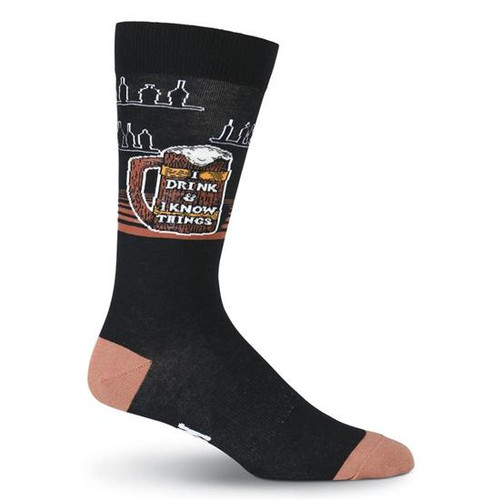 K.Bell Men's I Know Things  Crew  Socks