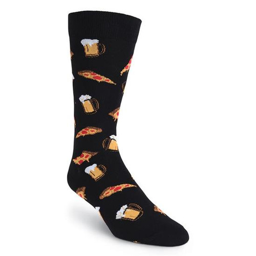 K.Bell Men's Pizza & Beer  Crew  Socks