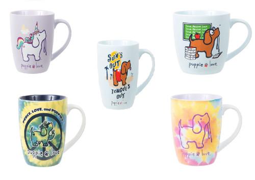 Pavilion Gift Puppie Love 17 oz Mugs