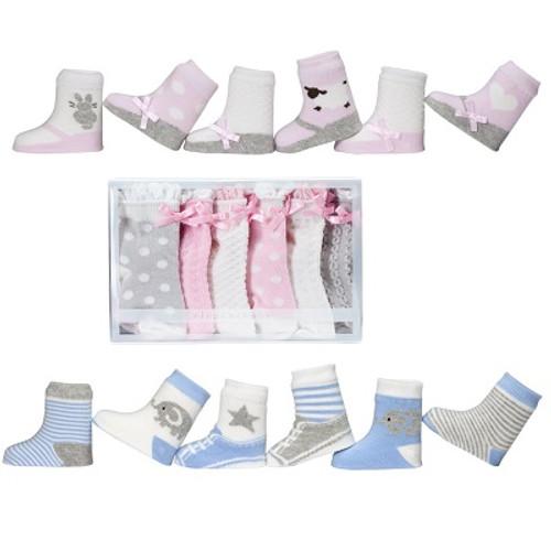 Elegant Baby 6 Pack Socks