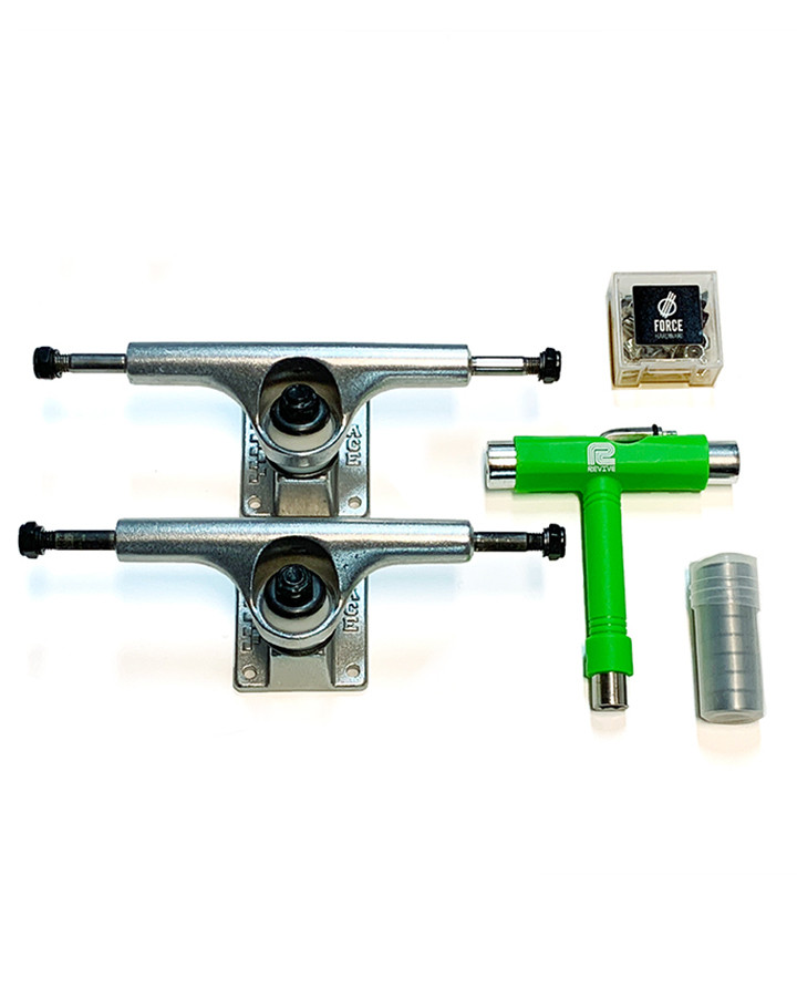 ACE Truck bundles from The Shredquarters Europe, including a pair of ACE Trucks, t-tool, bearing and bolts, all from The Shredquarters, home of Revive skateboards in the UK and Europe