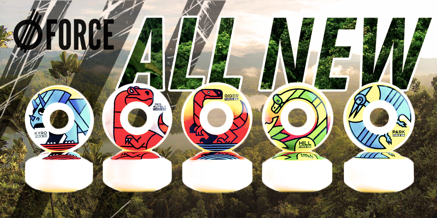 All new FORCE Wheels available now at Shredquarters home of Revive Skateboards, FORCE Wheels, 3Block Skateboards and AmGrip