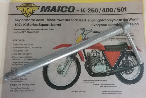Axle Rear Maico '68-74 OEM Replica (chromoly steel)