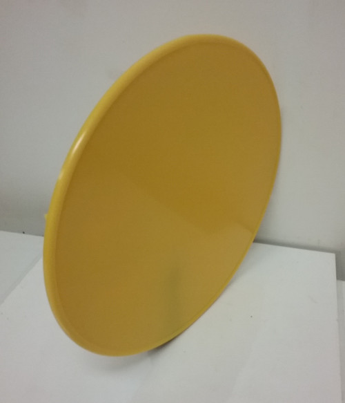Front Number Plate Oval with moulded mounting brackets Yellow