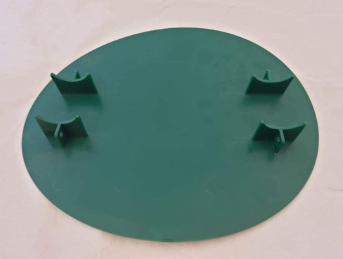 Front Number Plate Oval with moulded mounting brackets Green
