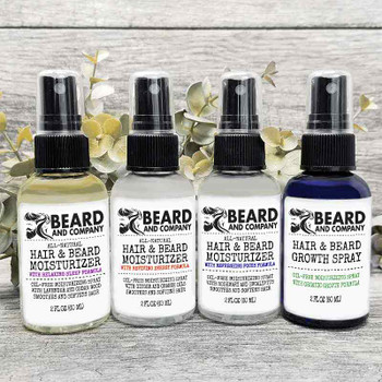 beard and company hair and beard moisturizing spray grooming kit