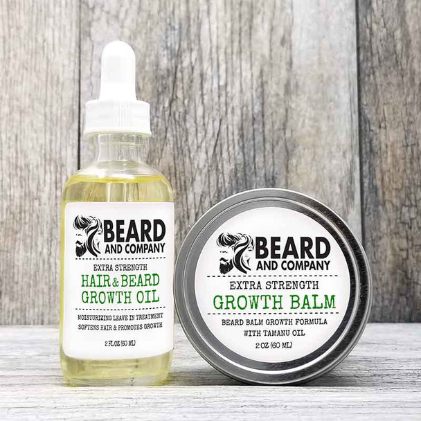 extra strength beard growth oil and balm kit