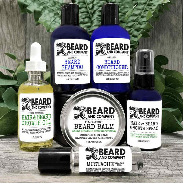 beard and company extra strength beard growth grooming kit