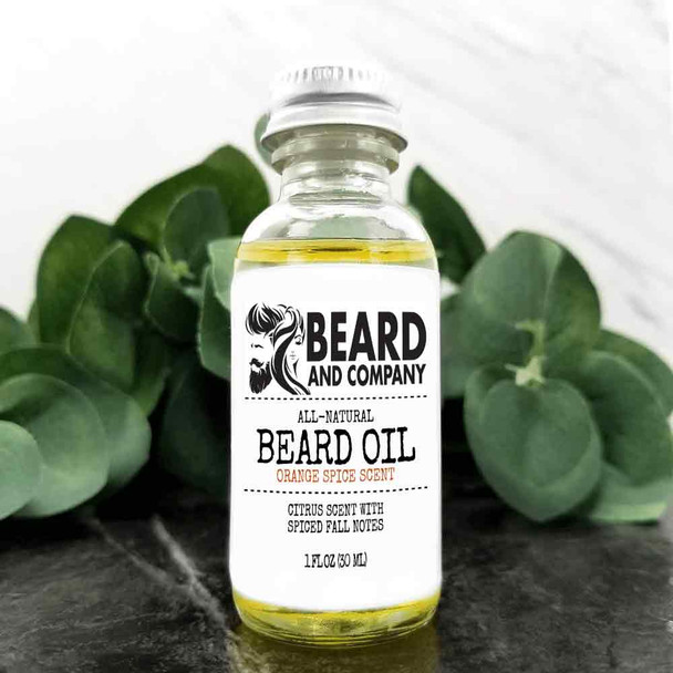 beard and company orange spice beard oil fall autumn