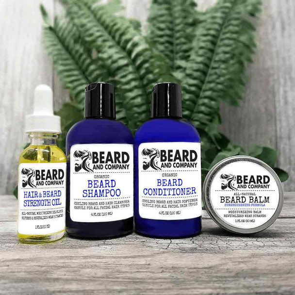 beard and company beard grooming kit strengthening formula