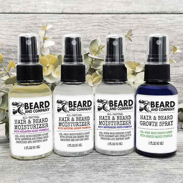 beard and company hair and beard moisturizing spray grooming kit