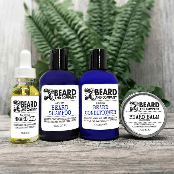 beard and company unscented beard grooming kit