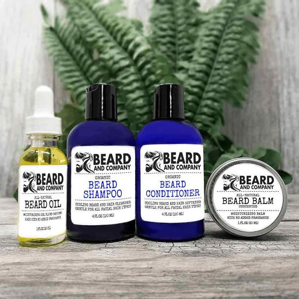 beard and company unscented beard grooming kit