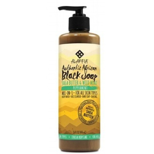 Soap African Black Peppermint 475ml - Alaffia