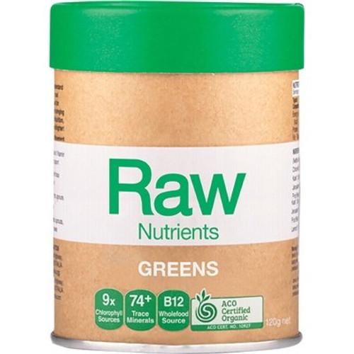 Raw Greens Mint & Vanilla Flavour Organic 120g - Amazonia