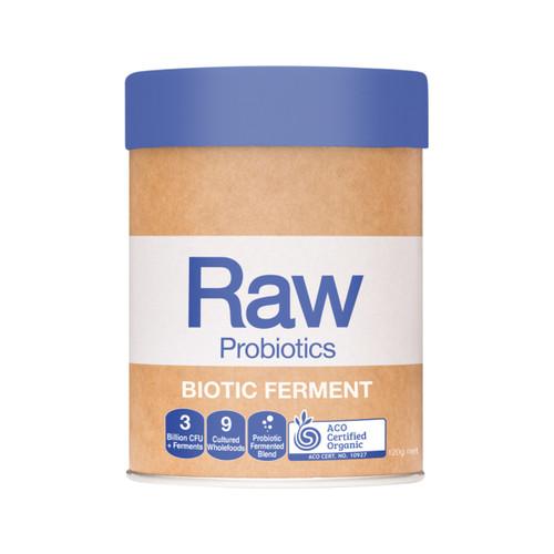 RAW Probiotics Biotic Ferment Organic Vanilla Berry 120g - Amazonia