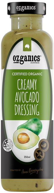 Dressing Creamy Avocado Organic 350g - Ozganics