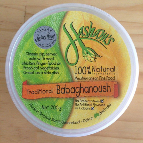 Dip Babaghannoush All Natural  200g- Hashams