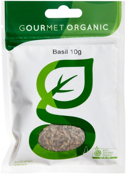 Basil Dried Organic 10g - Gourmet Organics