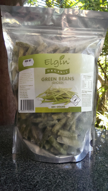 Beans Sliced Frozen Organic 600g - Elgin
