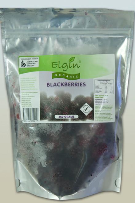 Blackberries Frozen Organic 350g - Elgin