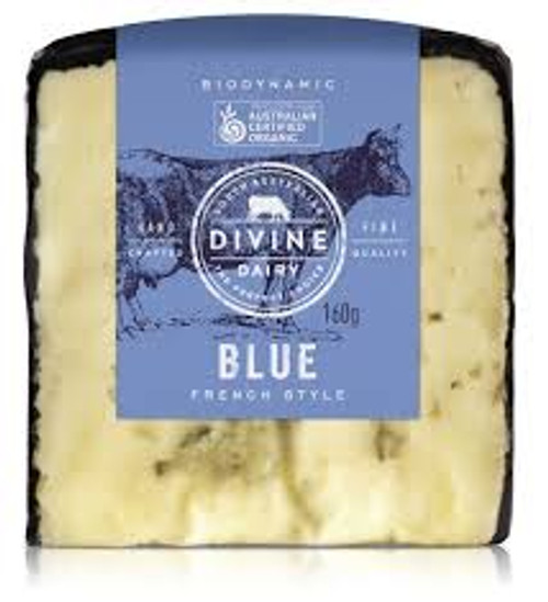 Blue Cheese Wedge Organic 160g - Divine Dairy
