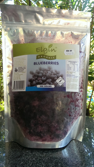 Blueberries Frozen Organic 350g - Elgin
