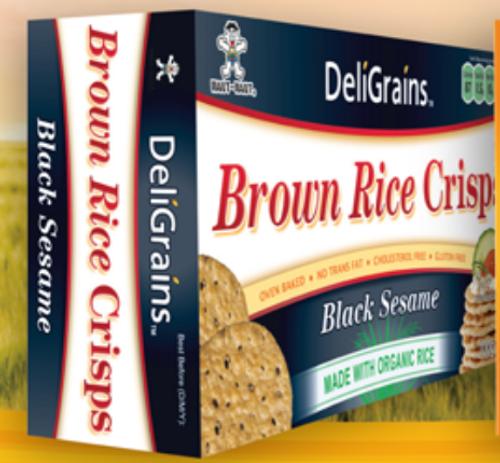 Black Sesame Brown Rice Crisps 100g  - Deligrains