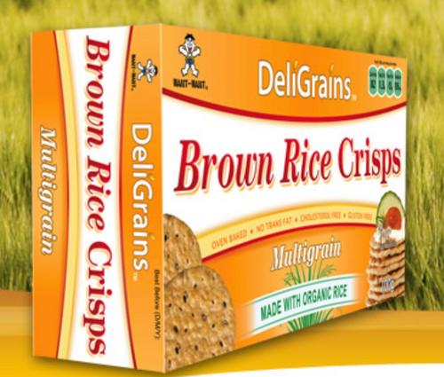 Multigrain Brown Rice Crisps 100g - Deligrains