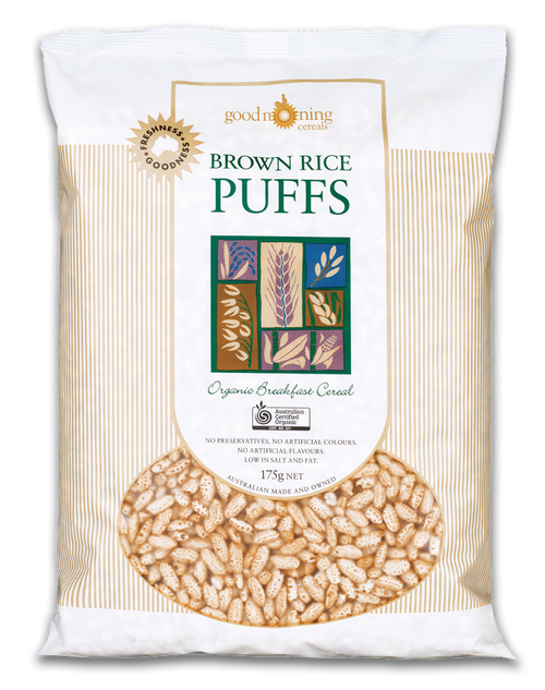 Brown Rice Puffs Organic 175g - Good Morning Cereals