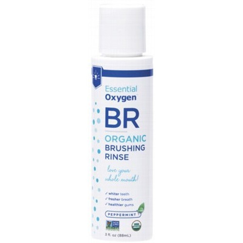 Brushing Rinse Mouthwash Peppermint 88ml - Essential Oxygen