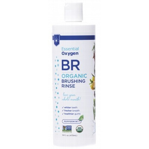 Brushing Rinse Mouthwash/paste Peppermint 473ml - Essential Oxygen
