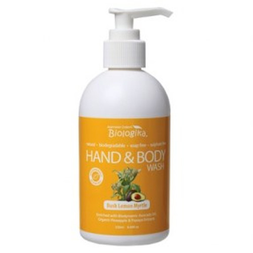 Bush Lemon Myrtle Hand & Body Wash 250ml - Biologika