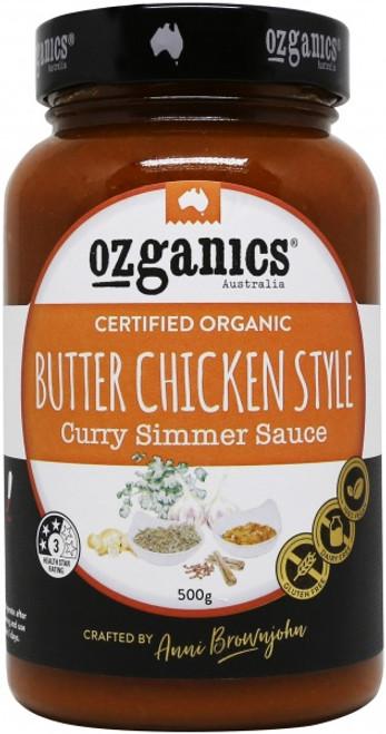 Curry Simmer Sauce Butter Chicken Organic 500g - Ozganics