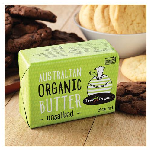 Butter Unsalted Australian Organic 250g - True Organic