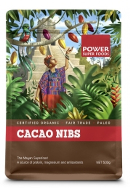 Cacao Nibs Organic 125g - Power Superfoods