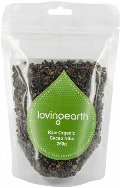 Cacao Nibs Raw Organic 250g - Loving Earth