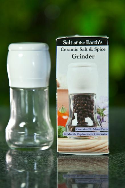 Ceramic Salt & Spice Grinder White (Empty) - Salt of the Earth