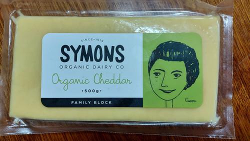 Cheddar Organic 500g Family Block - Symons