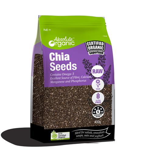 Chia Seeds Black Organic 400g - Absolute Organic