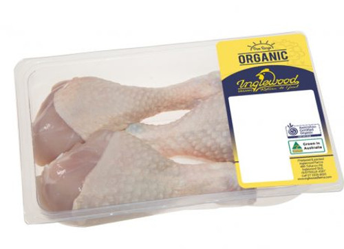 Drumsticks Chicken Frozen Organic 500g pack - Inglewood Organic
