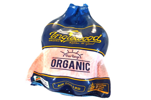 Whole Chicken Frozen Organic Large 1.9kg approx - Inglewood Organic