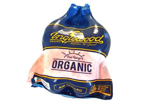 Whole Chicken Frozen Organic Large 1.9kg approx - Inglewood Organic