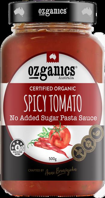 Pasta Sauce Spicy Tomato Organic 500g - Ozganics
