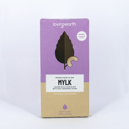 Cashew Mylk Chocolate Raw Organic 80g - Loving Earth