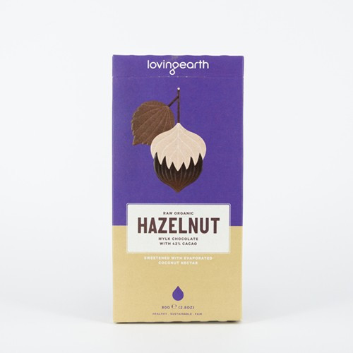 Hazelnut Mylk Chocolate Raw Organic 80g - Loving Earth
